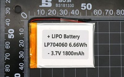 1800 mAh Battery Lithium Polymer Battery LP704060 6.66Wh