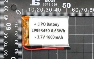 1800mAh Lipo Battery LP993450