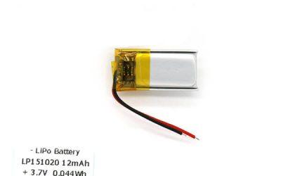 3.7 V Lipo Battery 12mAh LP151020 Small Lipo Battery Supplier