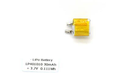30mAh Smallest Lithium Ion Battery LP401010