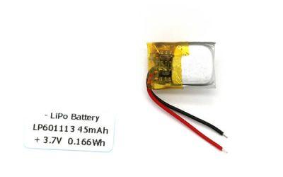45mAh Small Lipo Battery 3.7V LP601113