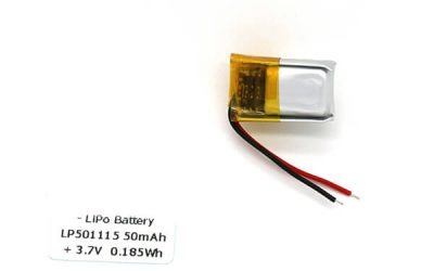 LP501115 Small Lithium Polymer Battery 50mAh 3.7 V – Top Supplier from China